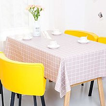 Yinaa Wipe Clean Tablecloth for Party Pvc Simple
