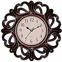 YING 10 inches Retro Numeral Wall Clock Decorative