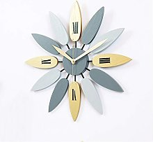 YING Large Metal Wall Clock for Living Room Silent