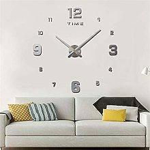 YING Large Modern 3D Stick on Wall clock, DIY
