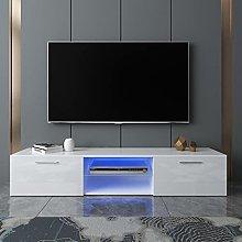 Yinguo Blue LED Light TV Unit Stand TV Cabinet -
