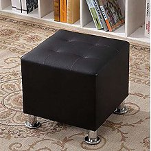 YINGYING Square Ottoman Small Leather Stool,