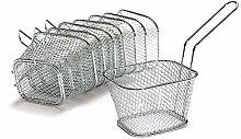 Yinitoo 8pcs Mini Chip Baskets Kitchen Stainless