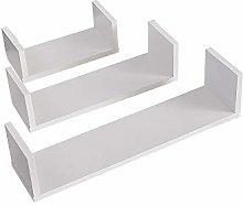 YINMAKE Set of 3 Floating Shelves, U-shaped