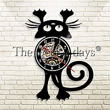 YINU 1Piece Animals Vinyl Record Wall Clock for