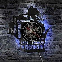YINU 1Piece Badger State LED Lighting Wall Art