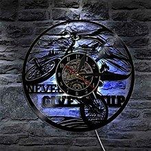 YINU 1Piece CYCLIST Vinyl Record Wall Clock