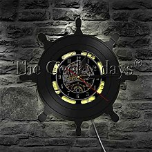 YINU 1Piece Nautical Steering Wheel Vinyl Record