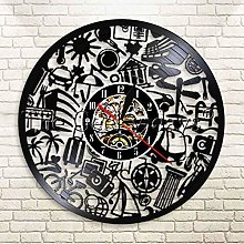 YINU 1Piece Tourism Vinyl Record Time Clock