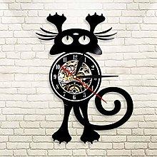 YINU Cat Wall Clock For Pet Owners Funny Kitten