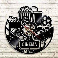 YINU Cinema Vinyl Record Wall Clock Modern Design