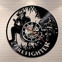 YINU Firefighter Wall Clock Firemen Personalised