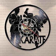 YINU International Karate Vinyl Record Wall Clock