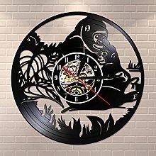 YINU Jungle Monkeys Vinyl Record Wall Clock