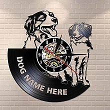 YINU Kooikerhondje Wall Clock Custom Dog Name