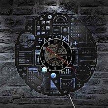 YINU Math Formulas Wall Clock with LED Backlight