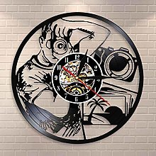 YINU Photographers Wall Clock Taking Picture with
