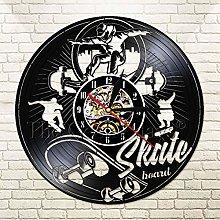 YINU Skateboard Roller SkatersWall Clock with