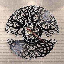YINU Tree of Life Wall Art Wall Clock Sacred Tree