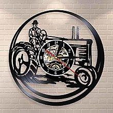 YINU Vintage Farm Truck Wall Clock Harvester Vinyl