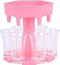 Yinuoday 6 Shot Glass Dispenser and Holder with
