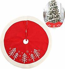 yinyinpu White Red Christmas Tree Skirts Xmas Tree