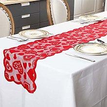Yissma Valentine's Day Table Runner Red Topper