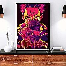 yitiantulong Print On Canvas Jujutsu Kaisen Poster