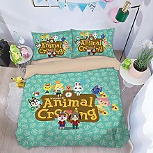 YIWANGO Animal Crossing Duvet Cover Set Kids,