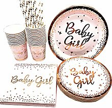 YIYO Party Supplies Pink Gold Dots Disposable
