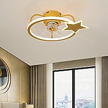 YIYUN Ceiling Fan for Kids Bedroom Dimmable Silent