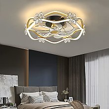 YIYUN Gold Ceiling Fans Lights with Remote Control