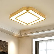 YIYUN Wood Dimmable Ceiling Lights with Remote