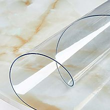 Yizunnu 1.5mm PVC Clear Tablecloth,Round