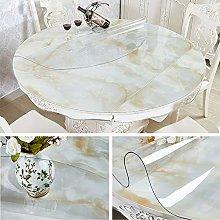 Yizunnu 1.5mm PVC Clear Tablecloth,Round