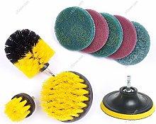 Yizunnu 10Pcs Power Scrubber Brush,Home Cleaning