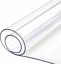 Yizunnu 1mm Clear PVC Tablecloth Waterproof Soft