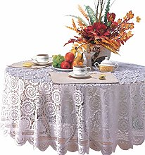 Yizunnu 70inch Vintage Tablecloth, Round Lace
