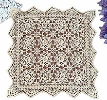 Yizunnu Handmade Crochet Cotton Lace Tablecloth