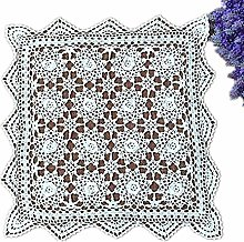 Yizunnu Handmade Crochet Cotton White Lace