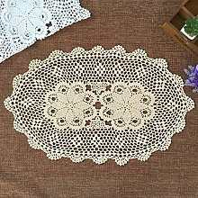 Yizunnu Oval Hand Crochet Placemat,Vintage Cotton