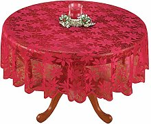 Yizunnu Red Vintage Floral Lace Tablecloth,