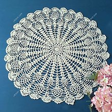 Yizunnu Round Crochet Tablecloth Cotton Lace Table