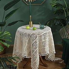 YIZUNNU Square Vintage Cotton Tablecloths ,Hand