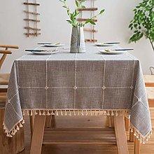 Yizunnu Stitching Tassel Rectangle Tablecloth,