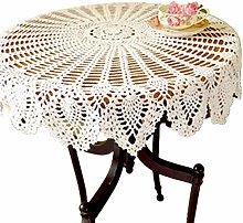 Yizunnu Vintage Round Lace Tablecloth Handmade