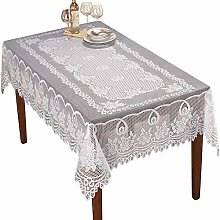 Yizunnu - White Tablecloth -60x90inch Rectangle