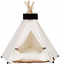 YJDIOXI Portable Linen Pet Tent Dog House Kitten