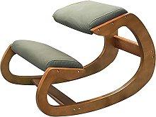 YJDQ Ergonomic Kneeling Chair,Wooden Kneeling