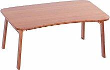 YJDQ Folding Desk Table,Bamboo Breakfast Bed Tray,